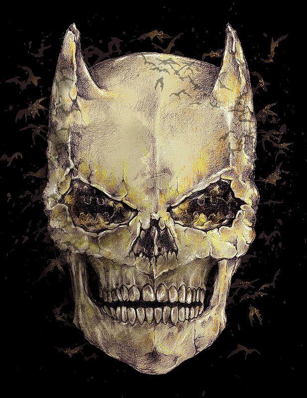 The skull of Batman  by Alan Maia