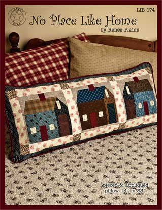 quilted house pillow