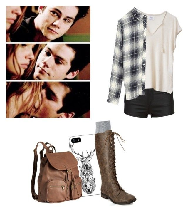 """Malia tate inspired outfit - teen wolf"" by shadyannon ❤ liked on Polyvore featuring Rails, H&M, Falke and Forever 21"