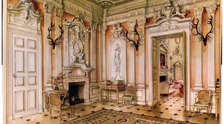The saloon at DItchley Park by Alexadre Serebriakoff