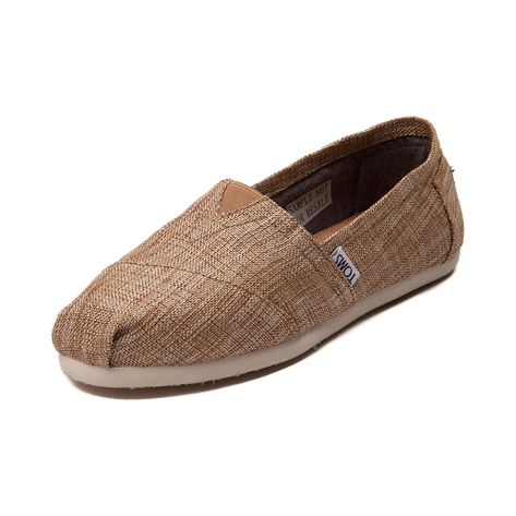 Shop for Womens TOMS Classic Burlap Slip On Casual Shoe in Ivory at Journeys Shoes.