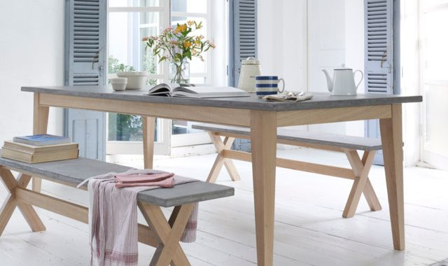 Conker kitchen table & Budge bench