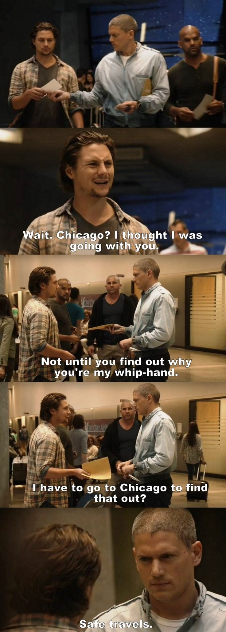 """I have to go to Chicago to find that out?"" - Michael, Whip, Sucre and Lincoln #PrisonBreak"