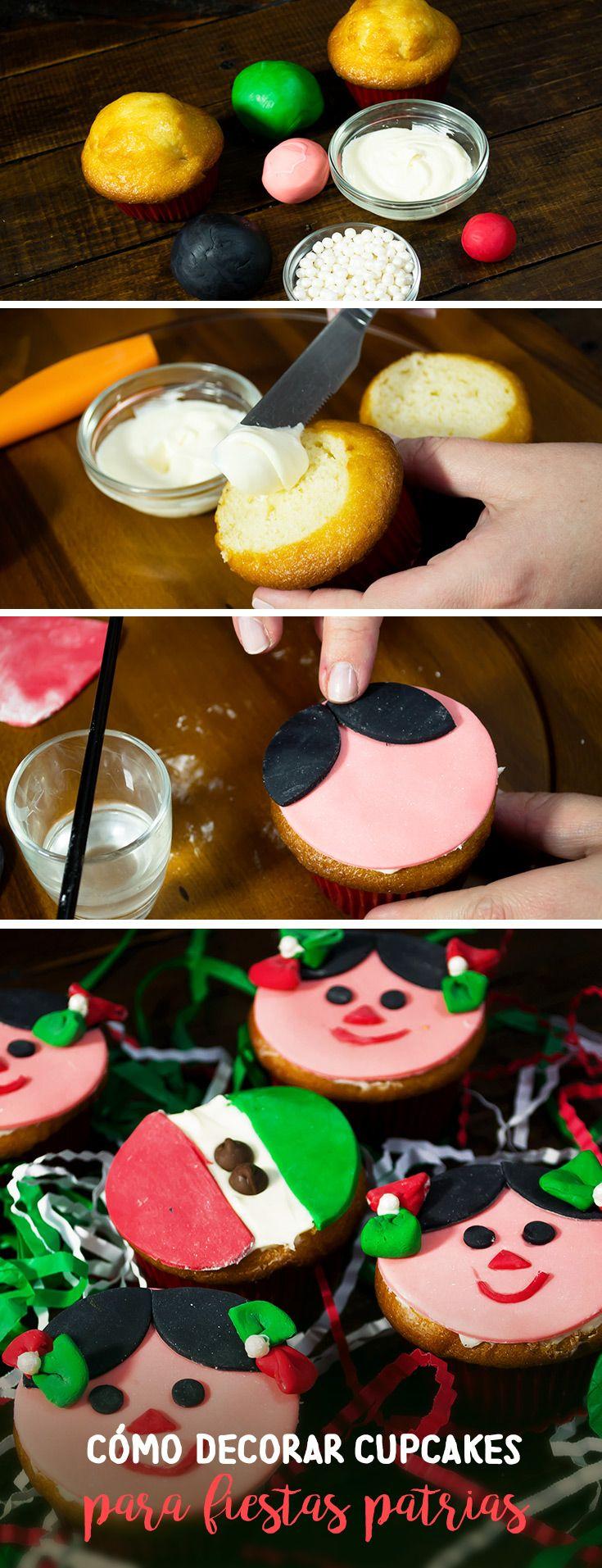 Sorprende a tu familia y amigos en el día de la independencia con estos originales y deliciosos cupcakes para fiestas patrias.