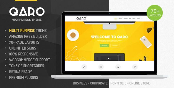 wpthemeclub: Qaro - Responsive Multi-Purpose WP Theme