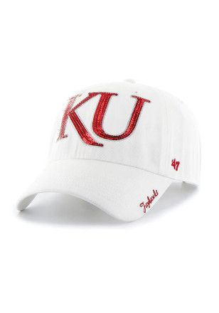 '47 Kansas Jayhawks White Sparkle Adjustable Hat