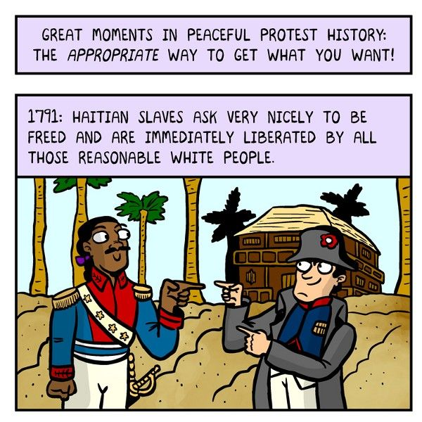 Great Moments in Peaceful Protest History — The Nib — Medium