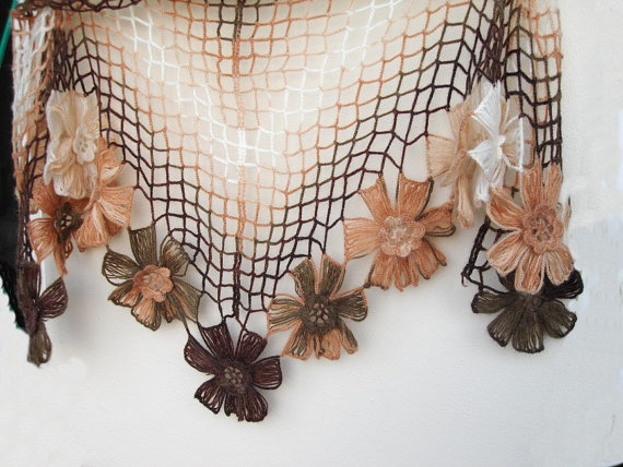 Triangle Floral Mohair  Shawl Fashion Winter by boutiqueseragun, $50.00: Handmade Beautiful, Floral Mohair, Shawl Fashion, Mohair Shawl, Fashion Winter, Fashion Accessories, Triangles Floral
