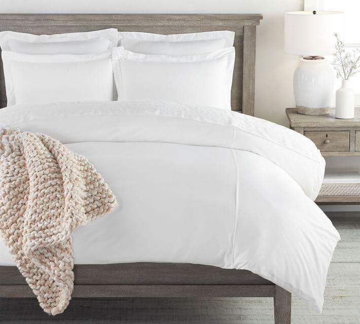 Essential Sateen Duvet Cover Shams White Duvet Bedding Duvet Bedding White Duvet Covers