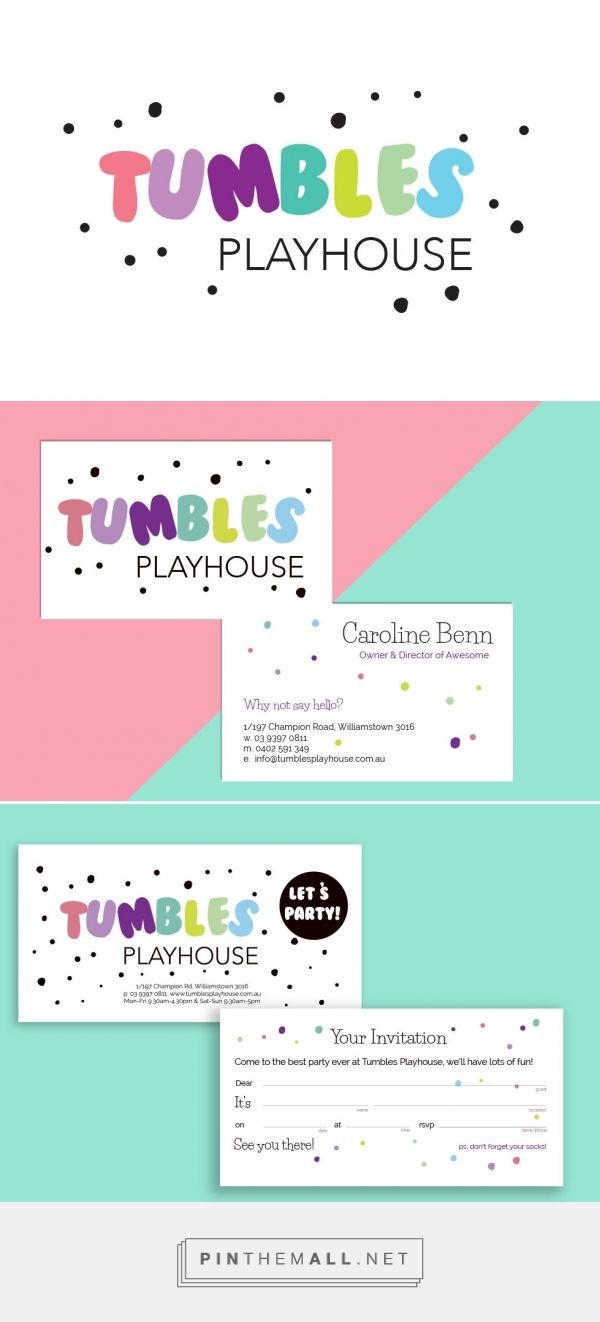 Tumble Playhouse Branding Package | A logo and stationery rebranding by Lollipop…