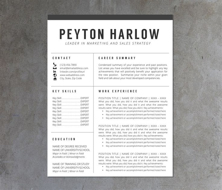 9 best images about Resume on Pinterest Icons, Template and Free