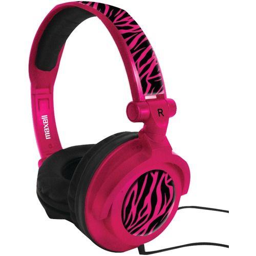 Maxell Amplified Heavy Bass Headphones (hot Pink)