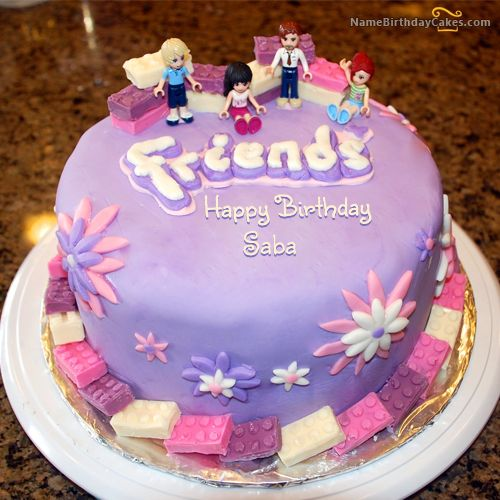 The Name Saba Is Generated On Friendship Birthday Cake