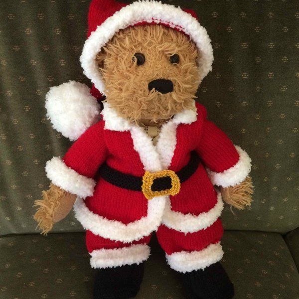 Santa Suit Outfit Knit A Teddy Knitting Pattern By