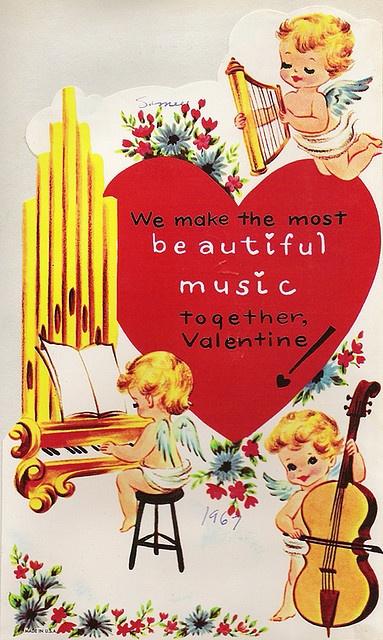 Vintage 'Musical Cherubs' Valentine