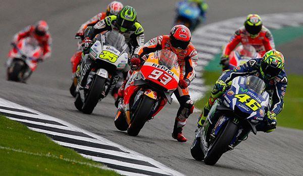 Massive track invasion at this year's British MotoGP