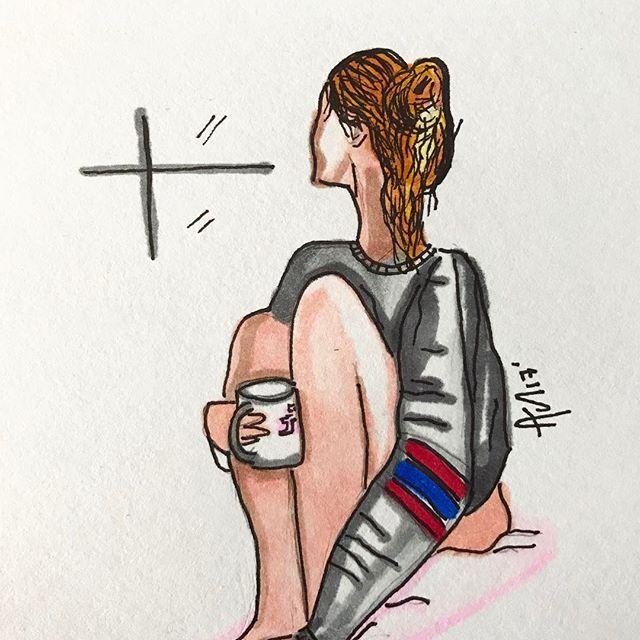 Días de lluvia, tardes de café 💦☂️🌂 ☕️ #enjoythelittlethings #livelife #instadaily #instamoment #draw #drawing #drawings #drawingoftheday #artwork #artist #artista #arte #artlovers #sketch #sketchbook #sketches #girlpower #womanpower #blogger #fashiongram #fashionista #like4like #lifestyle #dibujo #instagramers #lluvia #rainyday