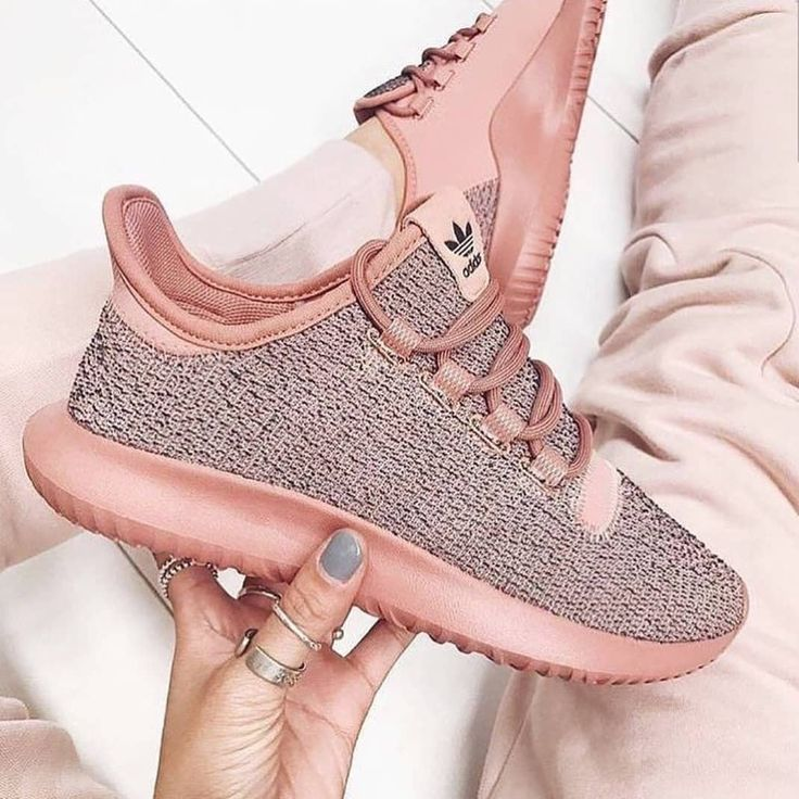 Adidas Tubular Shadow rose gold / women's running sneakers ...