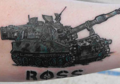 Cool Army Tattoo Design: Unique Army Tank Tattoo Design ~ Tattoo Design Inspiration
