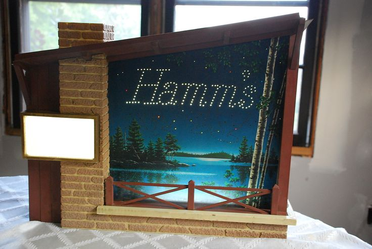 Vintage Hamms Beer Starry Night Motion Lamp Light Lighted Wall Advertising Sign | eBay.   Sold for $201.82 plus $35 S&H