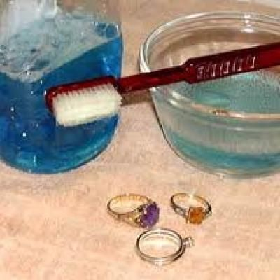 make your own jewelry cleaner with ingredients you already