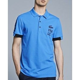 Men Polo Shirt, Short Sleeve, Blue