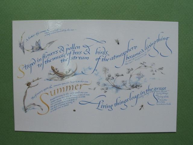 Lettering art :Quartet of the Seasons-Summer, via Flickr.