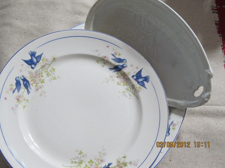Blue Bird Dishes ~ I\u0027ve collected these for years. Vintage - 1920s. & 63 best Blue Bird Dishes images on Pinterest | Bluebirds Blue bird ...