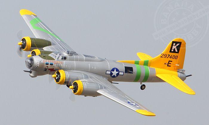 6 CH Freewing Fuddy Duddy Oversize B-17 Bomber RC Warbird Airplane ...