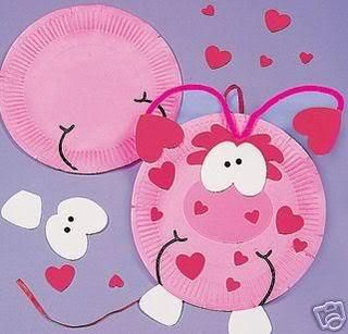 Pink Monster Paper Plate Craft Kit by KidsCraftSupplies for $2.95