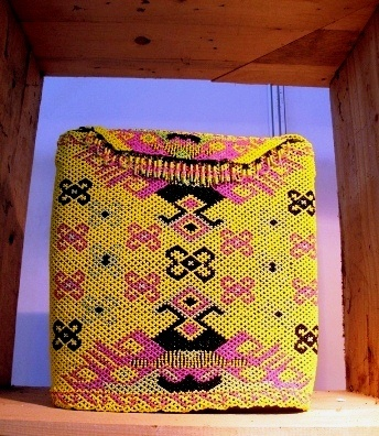 Beaded bag, East Borneo, Kalimantan, Indonesia.