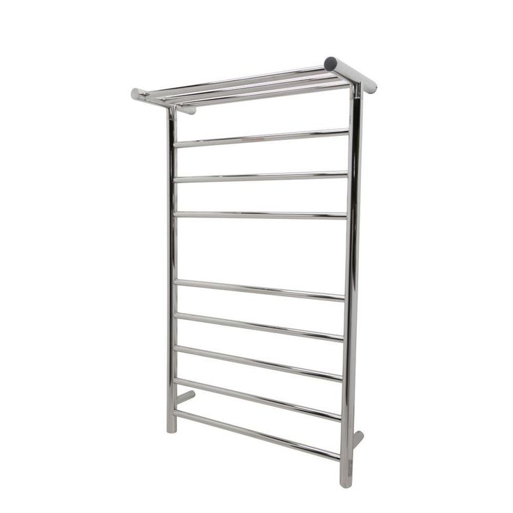 ANZZI Eve 8-Bar Stainless Steel Wall Mounted Electric Towel Warmer Rack in Polished Chrome (Grey)