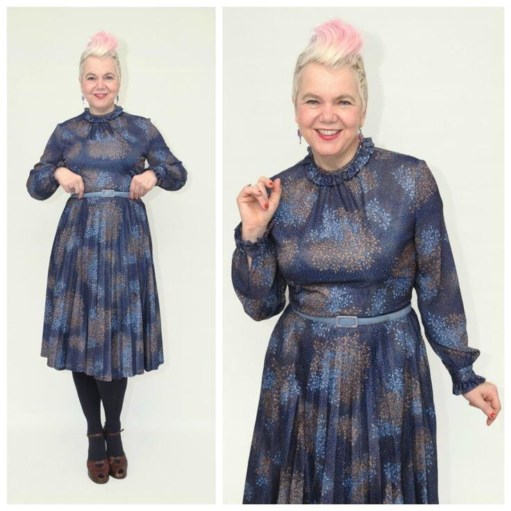 Gorgeous vintage dress. I love to wear it, don't you? Available at etsy.com/shop/pompadourandvintage #whatiwear #myoutfit #myoutfittoday #popupstyling #styling #stylingadvice #fashion #vintagefashion #vintage #vintagewear #womenwear #fashionista #vintagefashionista #pompadourandvintage #pompadour #fashionblogger #styleblogger #50plus #fiftyup #50up #beautiful #style #beauty #vintagestyle #vintageshop