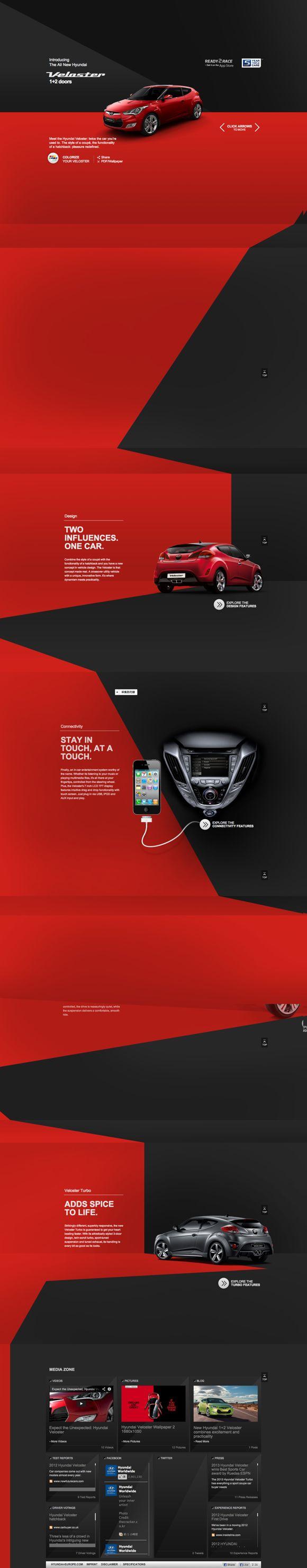 Hyundai Veloster | Official Site, Hyundai Motor Europe  #hyundai #veloster #car #webdesign