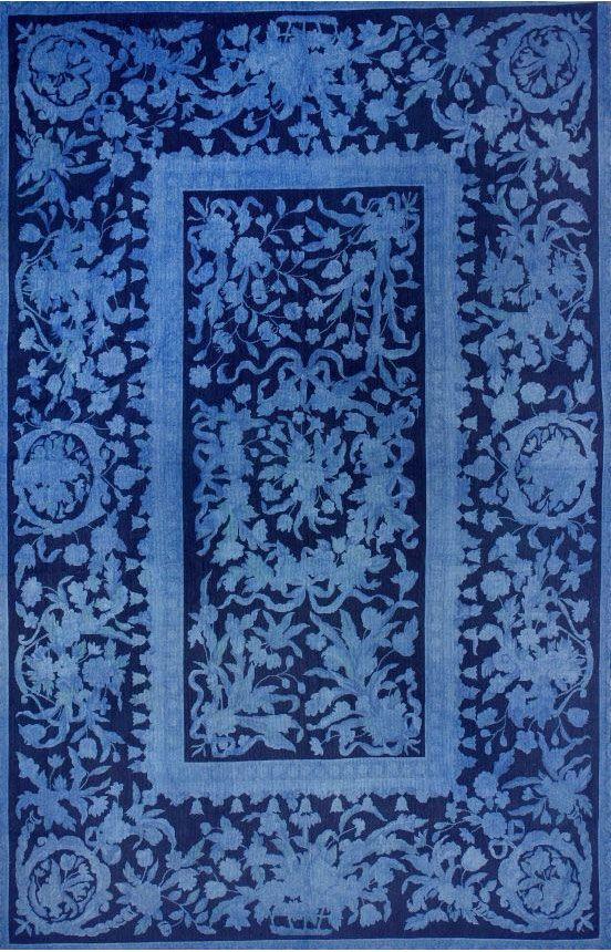 Vendimia Rugs Overdye Turkish Kilim ACC650 Blue Rug USA Fall Sale Up To 80