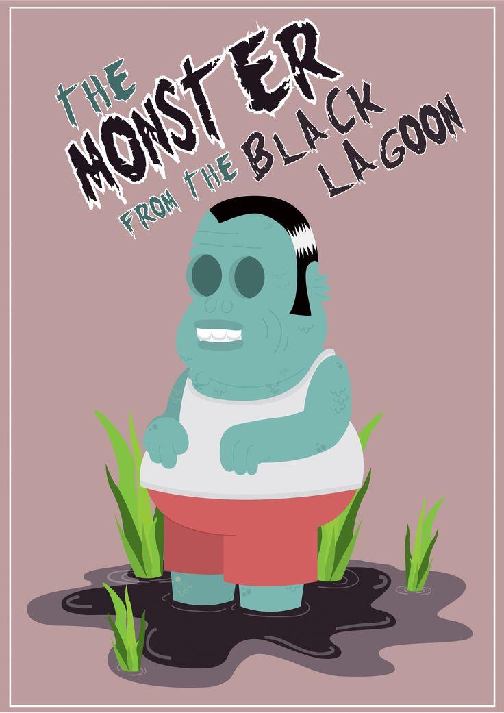 Monster of the Black Lagoon. Ilustraciones de Stefano Brizzio Estudiante de la Lic. en Diseño Gráfico