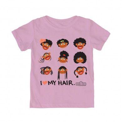 I love my hair tee by Sesame Street and We Love Fine.