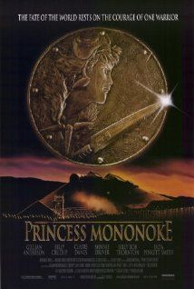 """""""Princess Mononoke"""" - On a journey to find the cure for a Tatarigami's curse, Ashitaka finds himself in the middle of a war between the forest gods and Tatara, a mining colony. In this quest he also meets San, the Mononoke Hime. (1997)"""