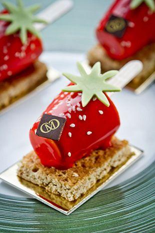 Pâtisserie- fraise, gelée