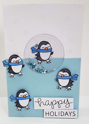l'angolo di miki: card con i pinguini per iniziare bene l'anno