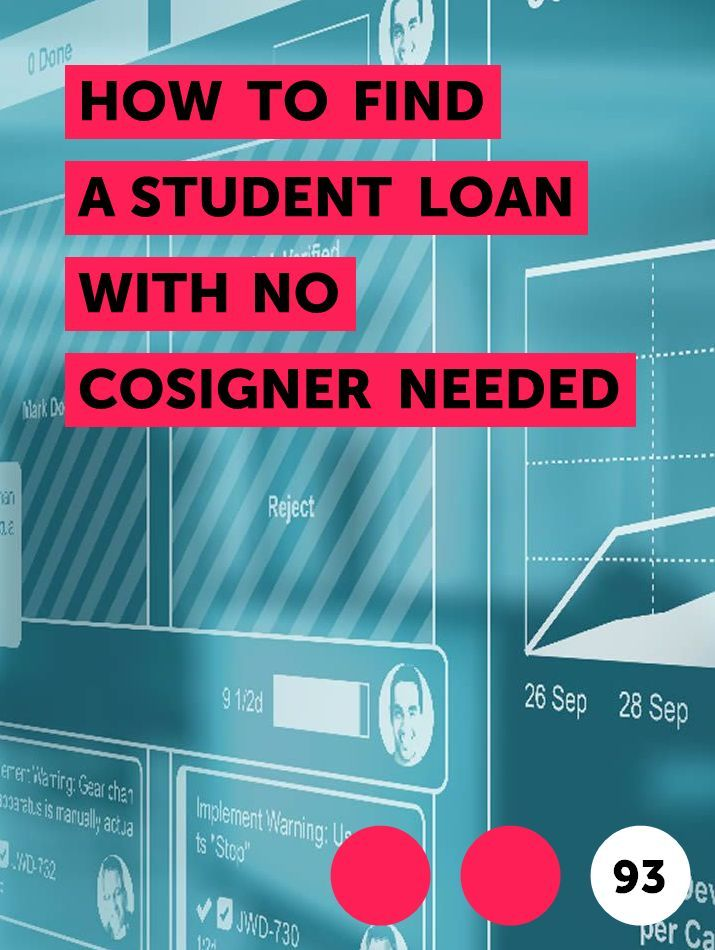 How To Find A Student Loan With No Cosigner Needed In 2020 Student Loans Student Education College