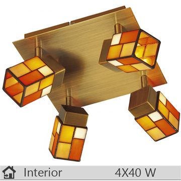 Plafoniera iluminat decorativ interior Klausen, gama Tiffany, model PL4