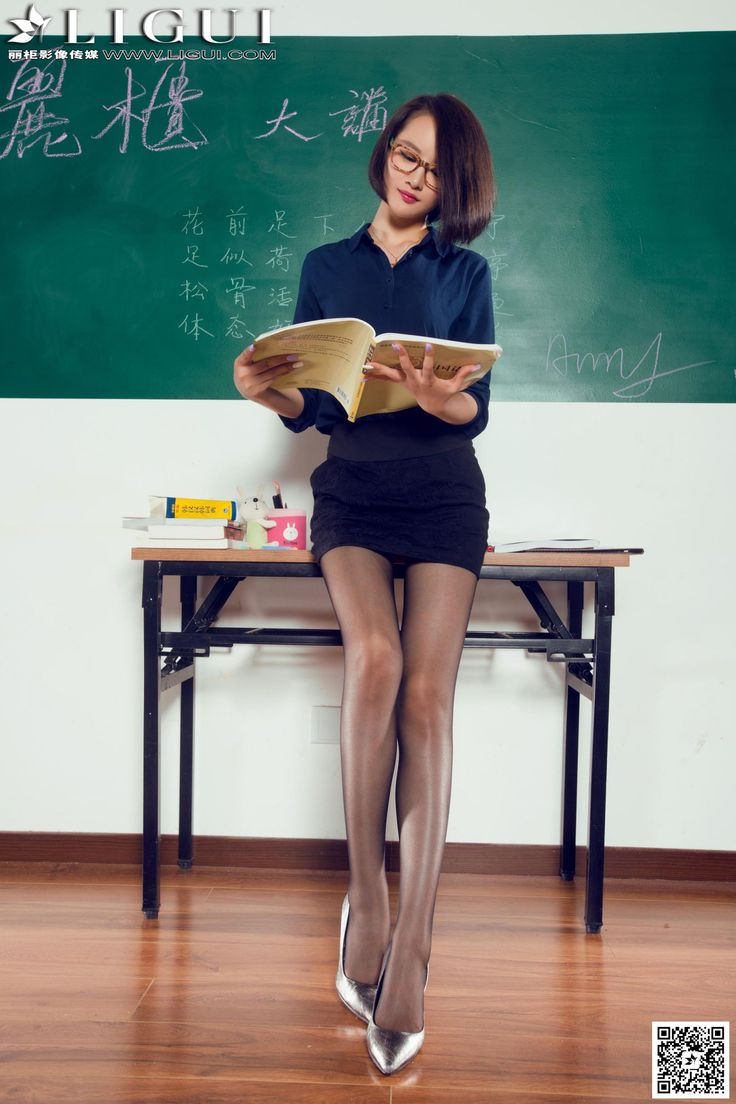 [Ligui丽柜] AMY - 教室里的黑丝女教师_第5页/第4张图