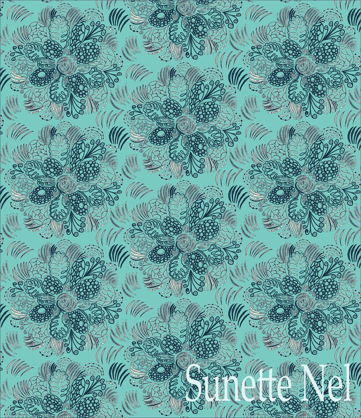 Shades of blue floral