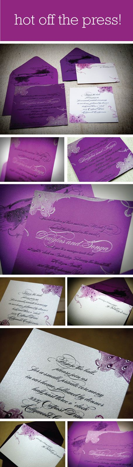 [ gorgeous + typography + illustration ]  Marie Antoinette Inspired Letterpress wedding invitations