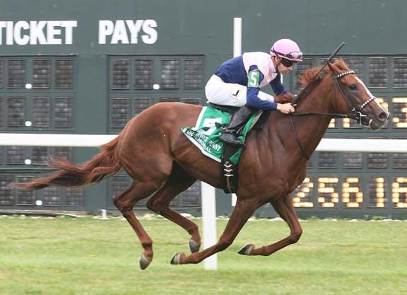 Empyrean Stables's Zipessa (City Zip) went wire-to-wire to win the GIII Dr. James Penny Memorial S., the lone North American graded event on the holiday schedule, at Parx Monday. The chestnut filly jumped out to …