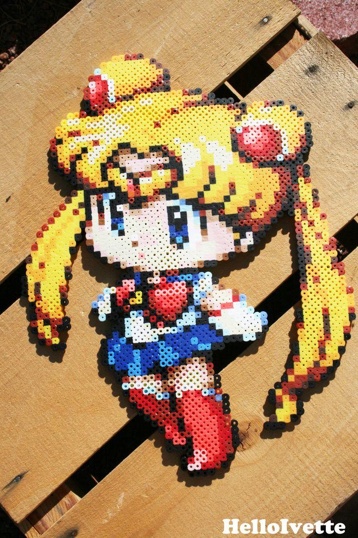 Sailor Moon Perler Bead Sprite by HelloFaith on deviantART