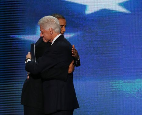 Barack Obama, Bill Clinton, September 5 2012, Democratic National Convention