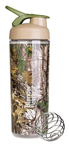 BlenderBottle SportMixer Sleek Shaker Bottle Realtree Camo 28-Ounce