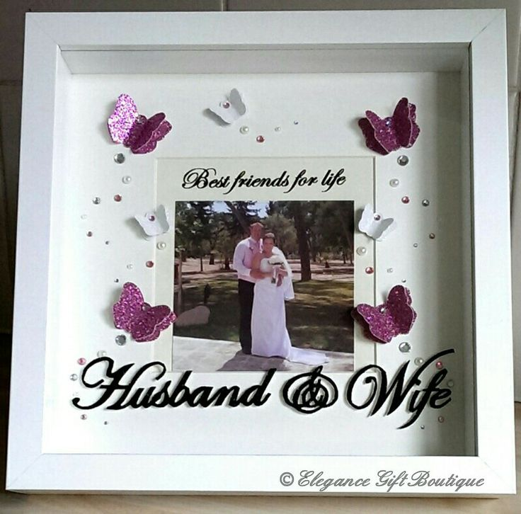 3D Butterfly Frame With Best Friends For Life Husband Wife Quote And